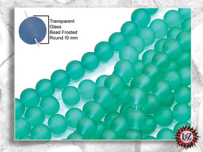 100 Perle Vetro Satinato 10 mm - sfera smerigliata  (pack: 100 pezzi)