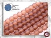 100 Perle Vetro Satinato 10 mm - sfera smerigliata - Ghiacciato (pack: 100 pezzi)
