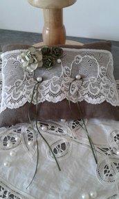 Cuscino Portafedi in puro lino- Altea
