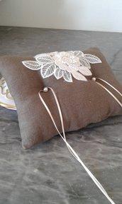 Cuscino portafedi in puro lino-Novella