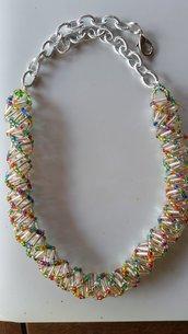 Collana spirale trasparente
