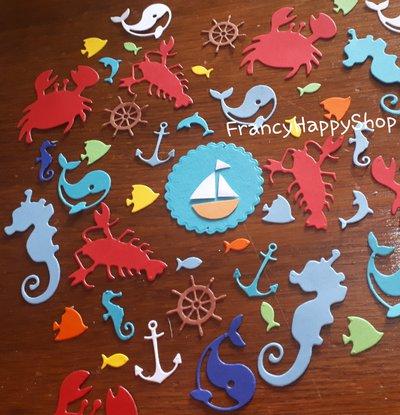 Coriandoli tema nautico,decorazioni festa tema nautico,decorazioni per la tavola,tavolo torta decorazioni compleanno battesimo bambino bambina mare estate,tema barca festa,party kit bambino,blu