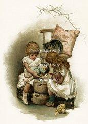 Trasferimento immagine Bambine Vittoriane formato digiale