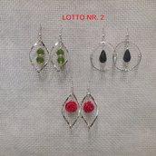 Orecchini pendenti, Lotto Nr. 2= 3 paia