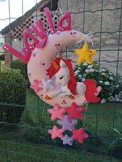 Fiocco nascita...un tenero unicorno