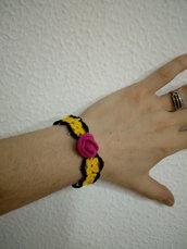bracciale  rosa e perline