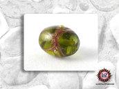20 Perle Vetro  20 x 16,5 mm- Ovale - Verde Acido