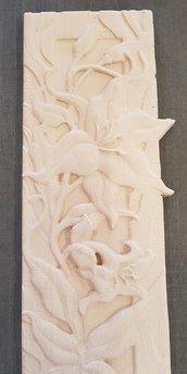 Fiori su legno