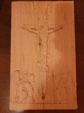 Crocifisso su legno