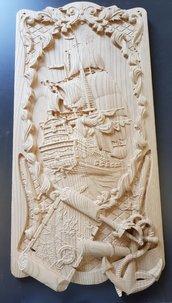 Veliero su legno