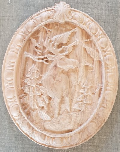 Cervo su legno