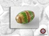 10  Perle di vetro Ovale 18 x 12 mm - Fatti A Mano - Verde Acido