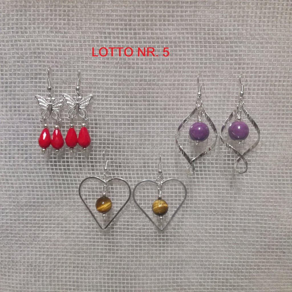 Orecchini pendenti, Lotto Nr. 5= 3 paia