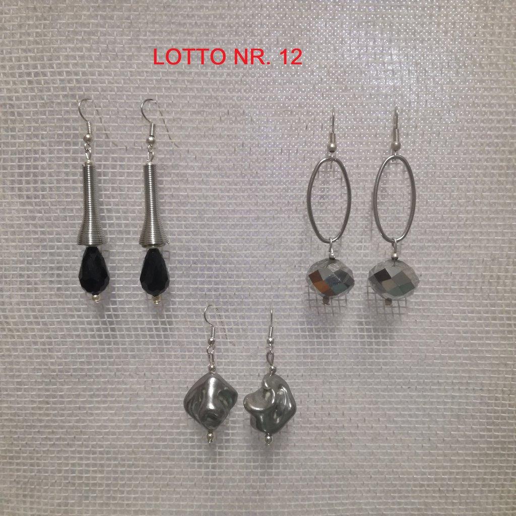 Orecchini pendenti, Lotto Nr. 12= 3 paia