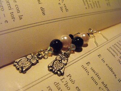 Orecchini con pendenti in argento tibetano