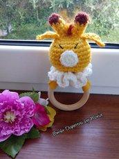 Sonaglio per bimbi ad uncinetto, amigurumi, fatto a mano