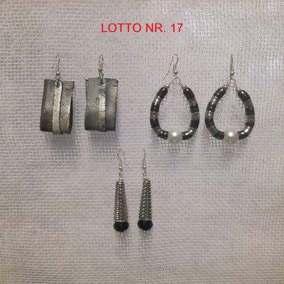 Orecchini pendenti, Lotto Nr. 17 = 3 paia