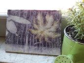 BLUNOTTE. Quadro con stampa botanica foglie vere