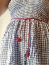 cintura rossa di cotone