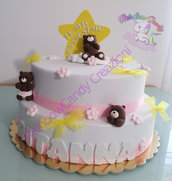 Torta scenografica battesimo bimba- torta in gomma crepla