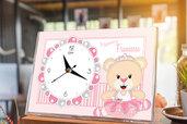 Bomboniera orologio orsetto battesimo nascita compleanno personalizzata