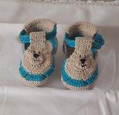 Sandaletti neonato 0-3 mesi