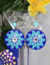 Orecchini turchese con cristalli Swarovski