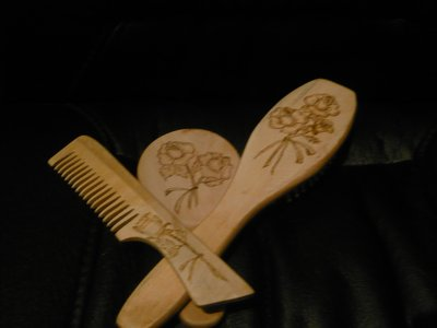 set spazzola pettine specchio
