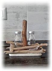 Sale e Pepe con legni di mare, accessori tavola mare