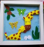 Quadro con giraffa e il piccolo