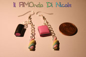 Orecchini collezione sweetnesses - Sweetnesses collection earrings - n°1 - Fimo
