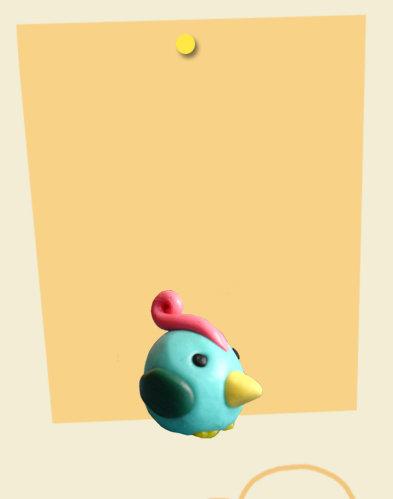Polletto pollo chicken in cernit 2