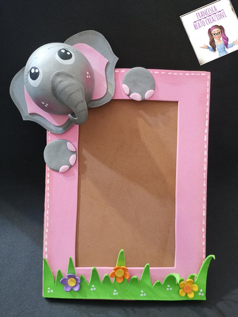 Cornice portafoto elefantino