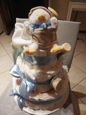Torta di pannolini pulcino