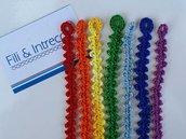 Braccialetti o cavigliere in cotone fatti all'uncinetto  / braccialetti dell'amicizia /braccialettini unisex
