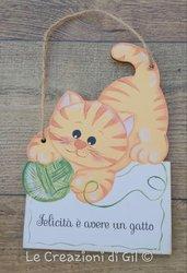 Targhetta gatto rosso
