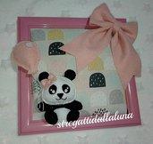 quadretto nascita bimba con panda