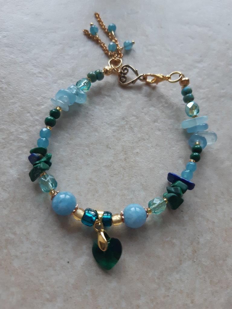 Cuore swarovski smeraldo
