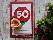 Invito / partecipazione per Anniversario o Compleanno 50 anni, 40 anni, 30 anni ..