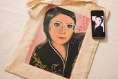 shopper bag in cotone, personalizzata, borsa personalizzata, shopper bag con illustrazione a scelta, borsa con ritratto cartoon, regalo di compleanno, regalo anniversario, ritratto di coppia, ritratto, ritratto cartoon, regalo da personalizzare