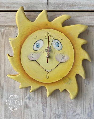 Orologio a forma di Sole ☀️