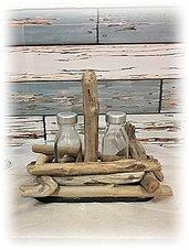 Sale e Pepe con legni di mare, accessori tavola mare, regalo