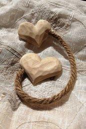 Embrasse fermatende – cuore scolpito a mano