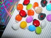 Set 5 bottoni COCCINELLA mixcolor mm.12
