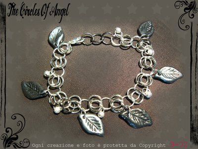 Bracciale in chainmail con charms in fimo