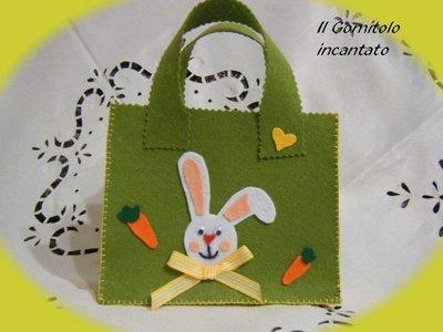 Borsetta feltro Dolce coniglietto