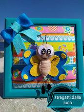 quadro farfalla in pannolenci