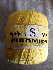 COTONE EGIZIANO NUMERO 3 PER UNCINETTO color giallo sole