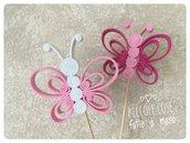 Farfalla in gomma crepla per confettata