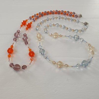 Trasparenza di cristalli - arancio